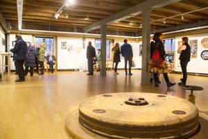 Så här såg det ut på Kvarnen när förra årets konstrunda i Söderhamn invigdes.