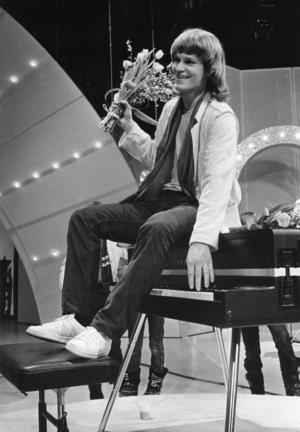 Ted Gärdestad efter segern i Melodifestivalen med låten
