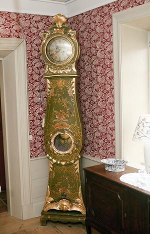 Det svenska golvuret, från 1770 köpte Jan på auktion på 1980-talet.