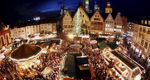 Julmarknad i Frankfurt.