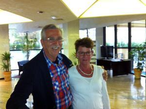 Västeråsparet Bengt och Gunilla Joelsson på plats i Rimini.