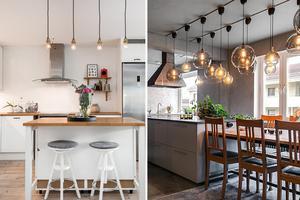 Veckans klickraketer på Hemnet är en villa i Östtjärn med nyrenoverat kök (till vänster) samt en etagelägenhet på Storgatan i Sundsvall med modern industristil (till höger).