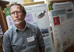 Ingemar Näslund säger att vattenbruk i form av rödingodling är en näring med potential i länet.