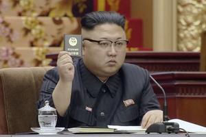 Nordkoreas ledare Kim Jong Un röstar när