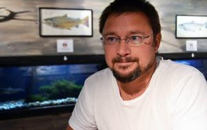 Mikael Palm, Sälenakvariet, hyser den ovanliga fisken som finns i Lima.