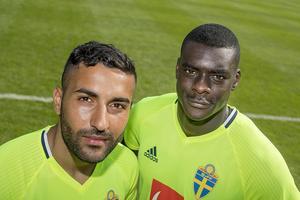 Östersunds två landslagsspelare, Saman Ghoddos och Ken Sema.