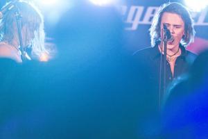 Alin Riabouchkin, gitarrist i Degeneration och Johan Myhrgren, sångare.