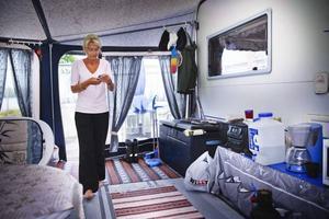 Det är 17:e året som Ing-Marie och Rolf Ryman hyr campingplats på Medskogssjöns camping. De längtar ut till campingen och sätter helst upp förtältet redan i maj.