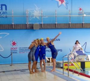 Hannah Brunzell, 16, gjorde succé på Junior-EM tidigare i sommar då hon simmade hem två bronsmedaljer.