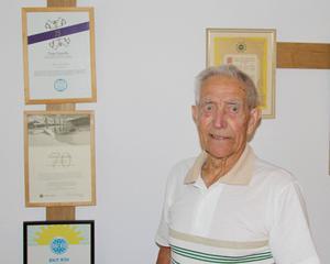 Tage Lundin har varit medlem i IOGT-NTO i över 75 år. I dag, måndag, firar han sin 92-årsdag.