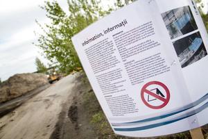 Gävle kommun har satt upp informationsskyltar om att ingen kommer att kunna bo kvar på Alderholmen efter 31 maj.