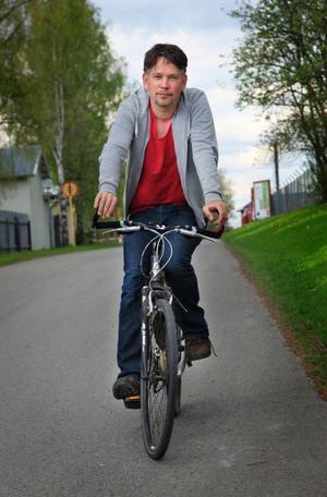 Ruben Heijloo från Revsund vandrar och cyklar den 580 kilometer långa Sankt-Olavsleden mellan Slånger och Trondheim.