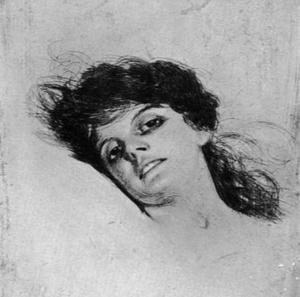 Anders Zorns etsning Mary från 1885...