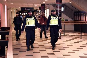 Polisen patrullerade med ordinarie hockeystyrka, var beskedet – från polisen.