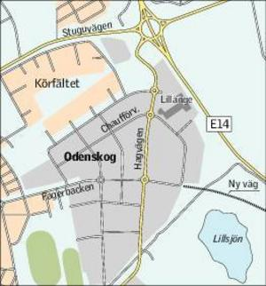 Frågan om att bygga en extra av- och påfart från Odenskogsområdet till E14 har diskuterats länge. Kommunen är dock inte helt positivt inställd till förslaget.