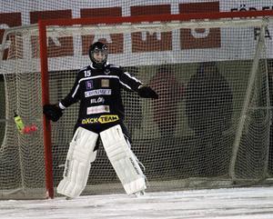 Adam Johansson gjorde många bra räddningar mot Köping.