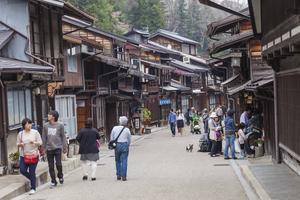 Den gamla staden i Takayama med de gamla bevarade trähusen.   Jörgen Ulvsgärd