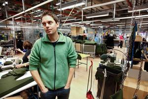 Linus Loveblad, vd på Woolpower i Östersund. Arkivbild.