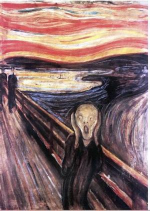 Jag som anhörig vaknar ibland och skriker av ångest! skriver signaturen Rma, vars inlägg illustreras bra av den norske konstnären Eduard Munchs klassiska målning Skriet.