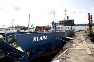 färja. Färjan Klara har en mångskiftande bakgrund: med i två världskrig, bilfärja mellan Finland och Sverige. Nu utställning.