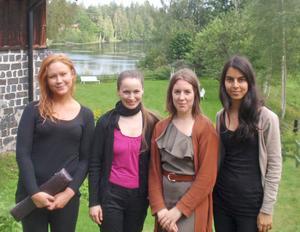 UPPSKATTADE. De framstående flöjtisterna heter Clara E Medling, Jana Jarkovská, Tove Edqvist och Panak Hashemian. Foto: Gunnar Grünbaum