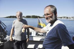Oförändrat. Enligt Ulf Larsson och Sture Hansson har inte mycket hänt med Östersjön som helhet sedan de började undersöka vatten på 1970-talet.Foto: Henrik Lindstedt