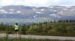 Magnifika vyer möte löparna strax efter den svenska gränsen.