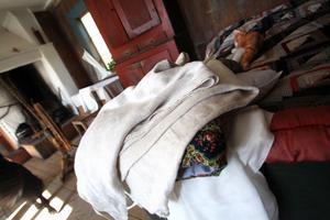 Tygerna som vaggan var bäddad med lämnades kvar vid inbrottet.