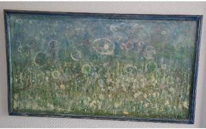 Målningarnas motiv är hämtade från naturen.
