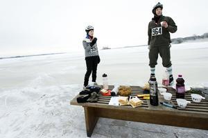Bella Lagrange och Thomas Jansson hjälptes åt att dra de 200 kilometerna i fjol (arkivfoto).