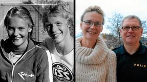 Susanne Collgård och Mats Nylén 1975 respektive 2014.