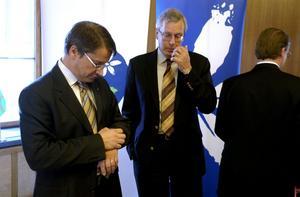 Konkurrenter. Är Göran Hägglunds tid som partiledare för Kristdemokraterna snart ute? Mats Odell är beredd att ta över.Foto: scanpix