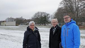 Nej till bygget, säger Siv Ahlstrand, Tore  Waltersten och Magnus Sköld.