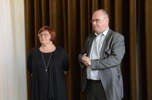 Gatufestens vd Anna Frisk och styrelseordförande Ulf Rehnberg.