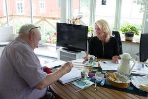 Bengt Södersten var mycket nöjd efter samtalet med Pia Nilsson.