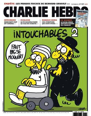 Ett exempel på satirteckning i Charlie Hebdo.