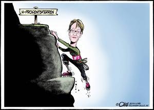 Gudrun Schymans klättring har lönat sig. Hon och hennes FI är nu över fyraprocentsplatån enligt TNS Sifo.