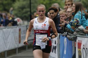 Josefin Tjernlund, OK Tisaren, under lördagens sprint-SM i Örebro.