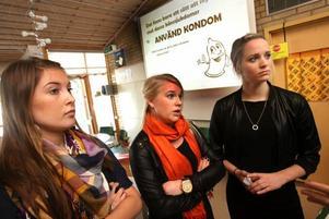 Angelica Johansson, Sofie Lundberg och Jessica Carlsson har valt informationen om könssjukdomar som sitt projektarbete.
