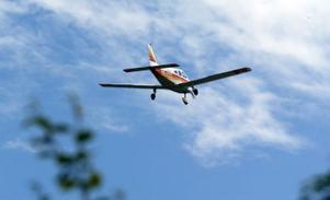 Arkivbild. Ett spaningsflygplan upptäckte en rökpelare i eftermiddags.