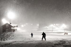 Det vore en underdrift att säga att snön yrde på berget.