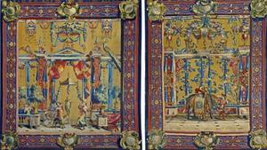 Tapetsvit tillverkad vid Beauvais, efter förlaga av Jean Baptiste Monnoyer, 1695, finns nu på Nationalmuseum.