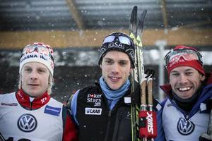 Pallen: Lars Nelson, Marcus Hellner och Emil Jönsson.