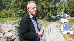 Erik Hinnerich i hamnföreningen har fått klartecken av miljödomstolen.