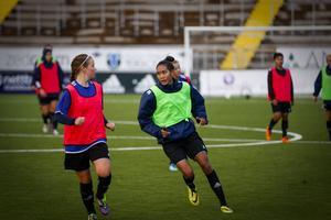 Taneekarn Dangda är ytterligare en tidigare ÖDFF-spelare att hålla koll på i Sveriges grupp. Arkivbild: Lisa Johansson