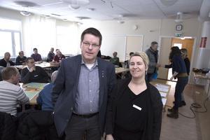 Kommunalrådet Leif Pettersson (S) får snart välkomna Johanna Ingre till Ludvika i hennes nya roll som planeringschef.