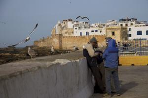 Stilla liv i kuststaden Essaouira.
