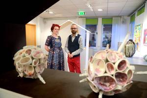 Pia Rudolfsson Anliot och Stellan Anliot fick en inbjudan i somras om att ha en utställning i Kulturhörnan under december.