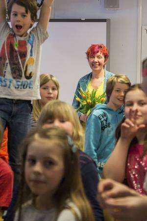 Lisbeth Pipping föreläste om mobbing på Enångers skola.