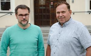 Anders Frodig, kostchef, och Erik Linder, upphandlare inom Rättviks kommun.